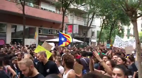 Demonstrasjon i Barcelona