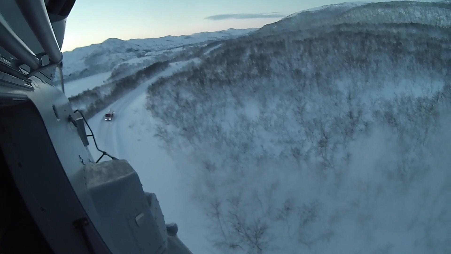 Kystvaktas innsats under brannen hos Laksefjord AS