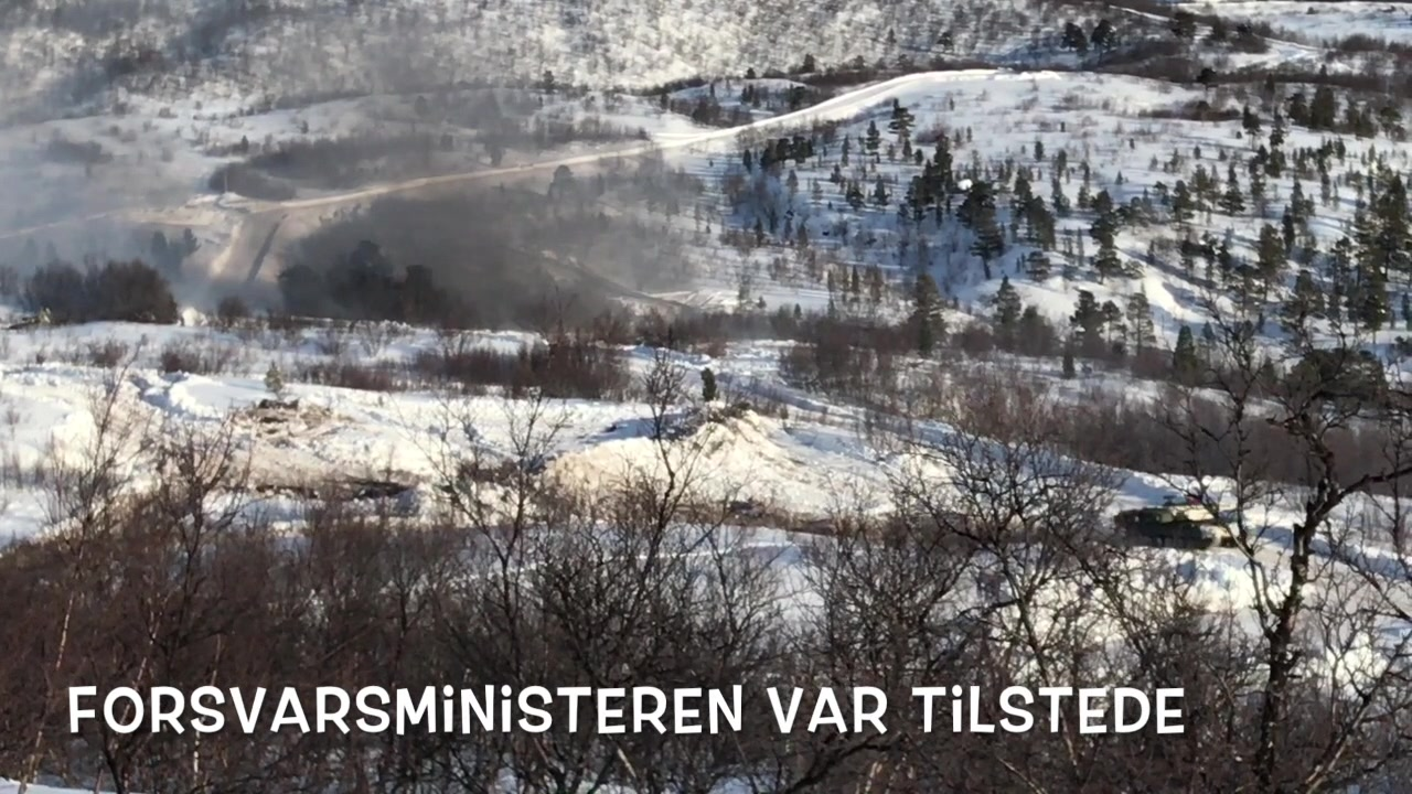 Telemarksbataljonen skyter med skarpt i Hálkkavárre