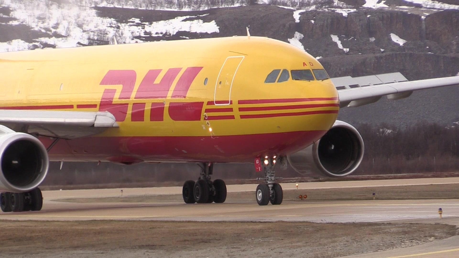 DHL lander på Banak